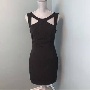 Boston Proper black cut out dress size 6